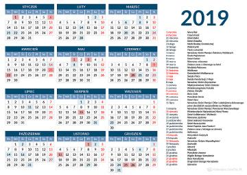 święta 2019 Dni Wolne I świąteczne W Roku 2019