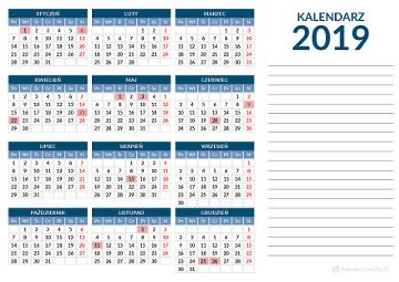Kalendarz 2019 Za Darmo Do Druku